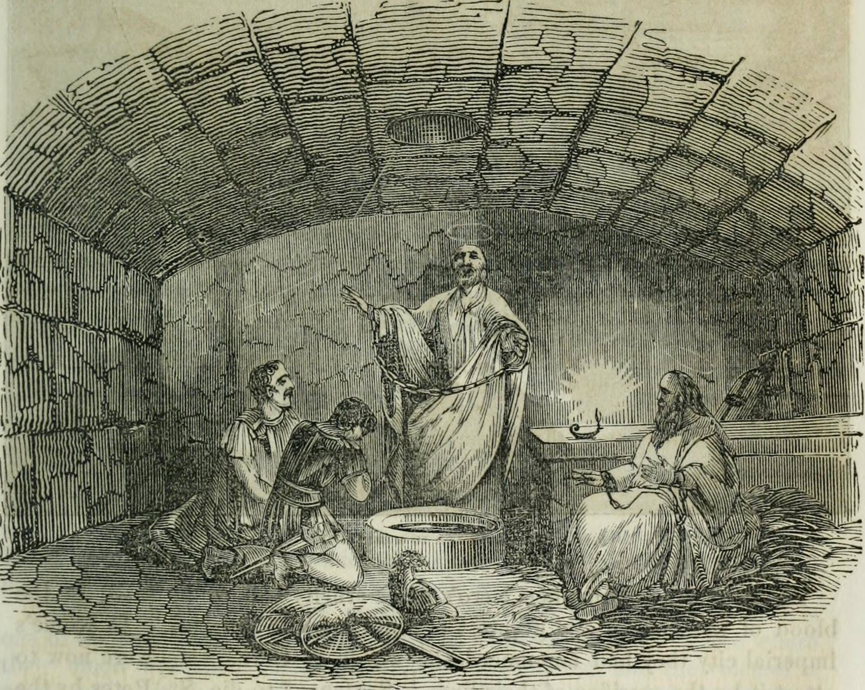Mamertine Prison - The Metropolitan a monthly magazine, devoted to religion, education, literature, and general information (1853)