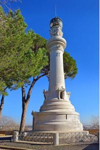 Manfredi Lighthouse at the Gianicolo ( Janiculum Hill ) in Rome, Italy. built in 1911 was a gift from Italians who migrated to Argentina