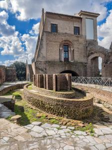 Ninfeo eliptico. Flavian Palace at Palatin in Rome, Italy