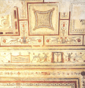 Painted friezes in the vault of the room of Hector and Andromache