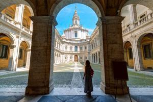 Palazzo della Sapienza in summer, Rome, Italy.