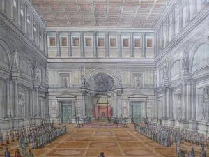 Reconstruction Sketch of Flavian Palace (Domus Flavia) Source J.C GOLVIN