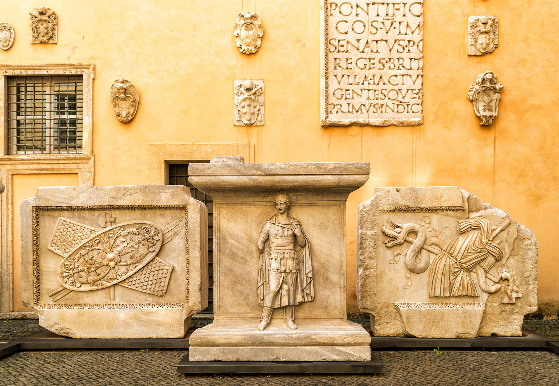 Reliefs from the Temple of Hadrian, Capitoline Museums.