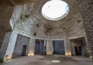 Remains of a dome and circular space inside the Domus Aurea palace in Rome