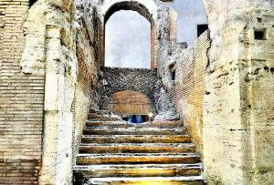 Ruins - Stadium of Domitian under Piazza Navona