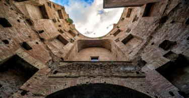 Ruins of the Baths of Diocletian, Rome, Italy.
