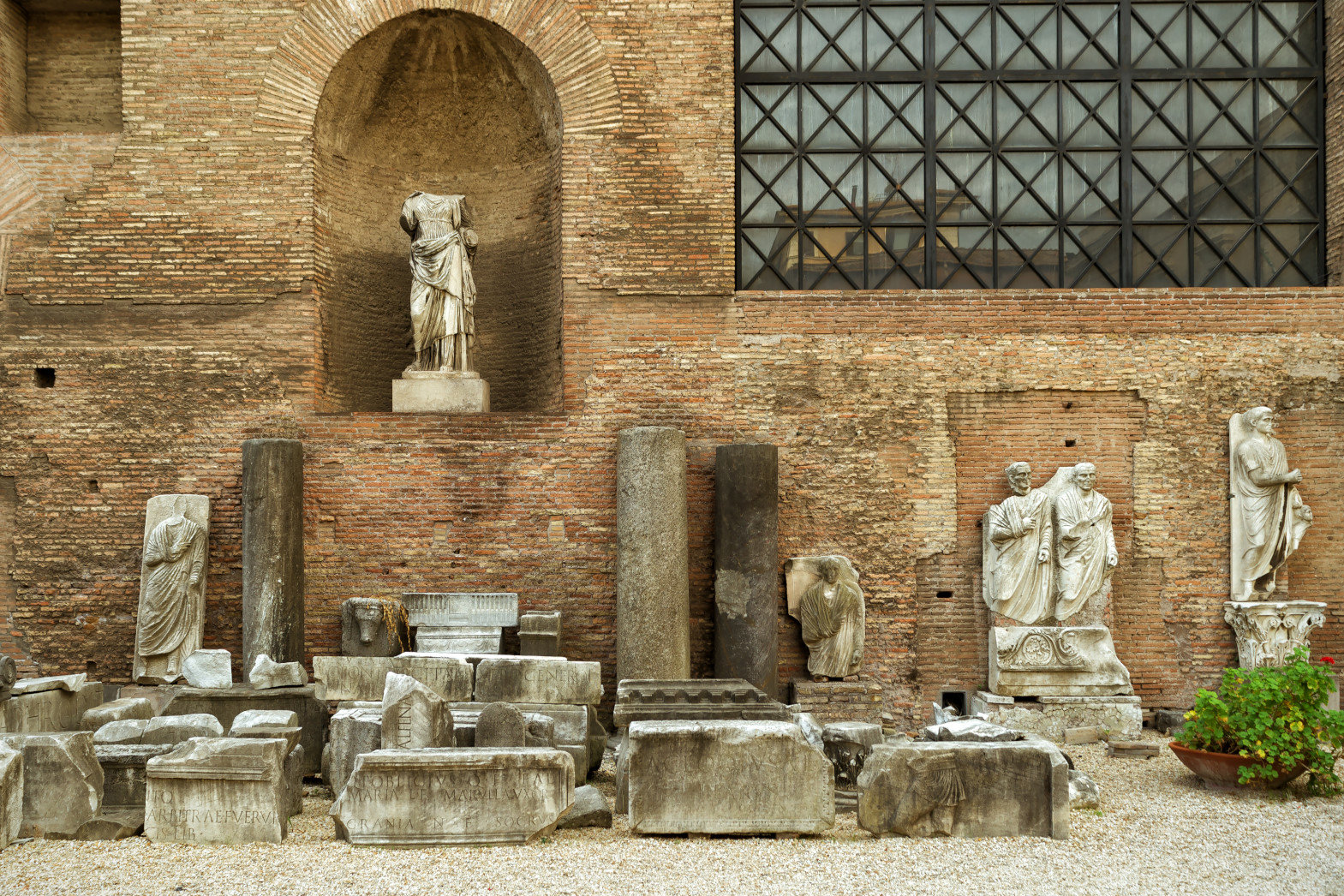 Ruins of the Baths of Diocletian (Thermae Diocletiani), Rome, Italy.
