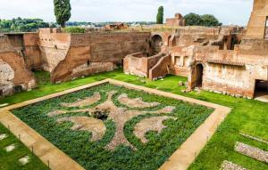 Ruins of the Roman Domus Augustiana on Palatine Hill, Rome, Italy.