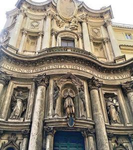 San Carlo alle Quattro Fontane - Entrance of Church
