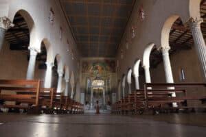 San Giorgio in Velabro church interior, located at the ancient Roman Velabrum in the rione of Ripa