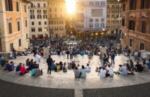 Spanish Steps and Square of Spain (Piazza di Spagna) in Rome, Italy