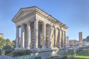Temple of Portunus or Temple of Fortuna Virilis on Forum Boarium in Rome