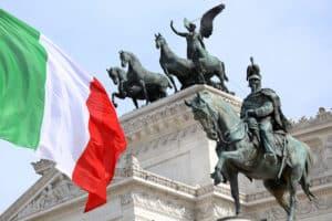 The Piazza Venezia, Vittorio Emanuele, Monument for Victor Emenuel II, in Rome, Italy