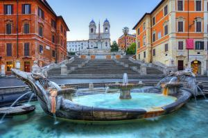 The Spanish Steps in Rome - Fontana della Barcaccia