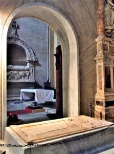 Tomb of Fra Angelico in Santa Maria Sopra Minerva.