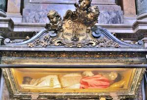 Tomb of Pope Pius V Gregorovius in Basilica of Santa Maria Maggiore, Rome, Italy.