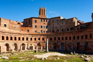 Trajan's Market and Torre delle Milizie in Rome in Rome, Italy