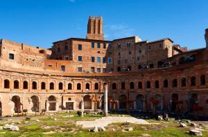 Trajan's Market and Torre delle Milizie in Rome in Rome, Italy