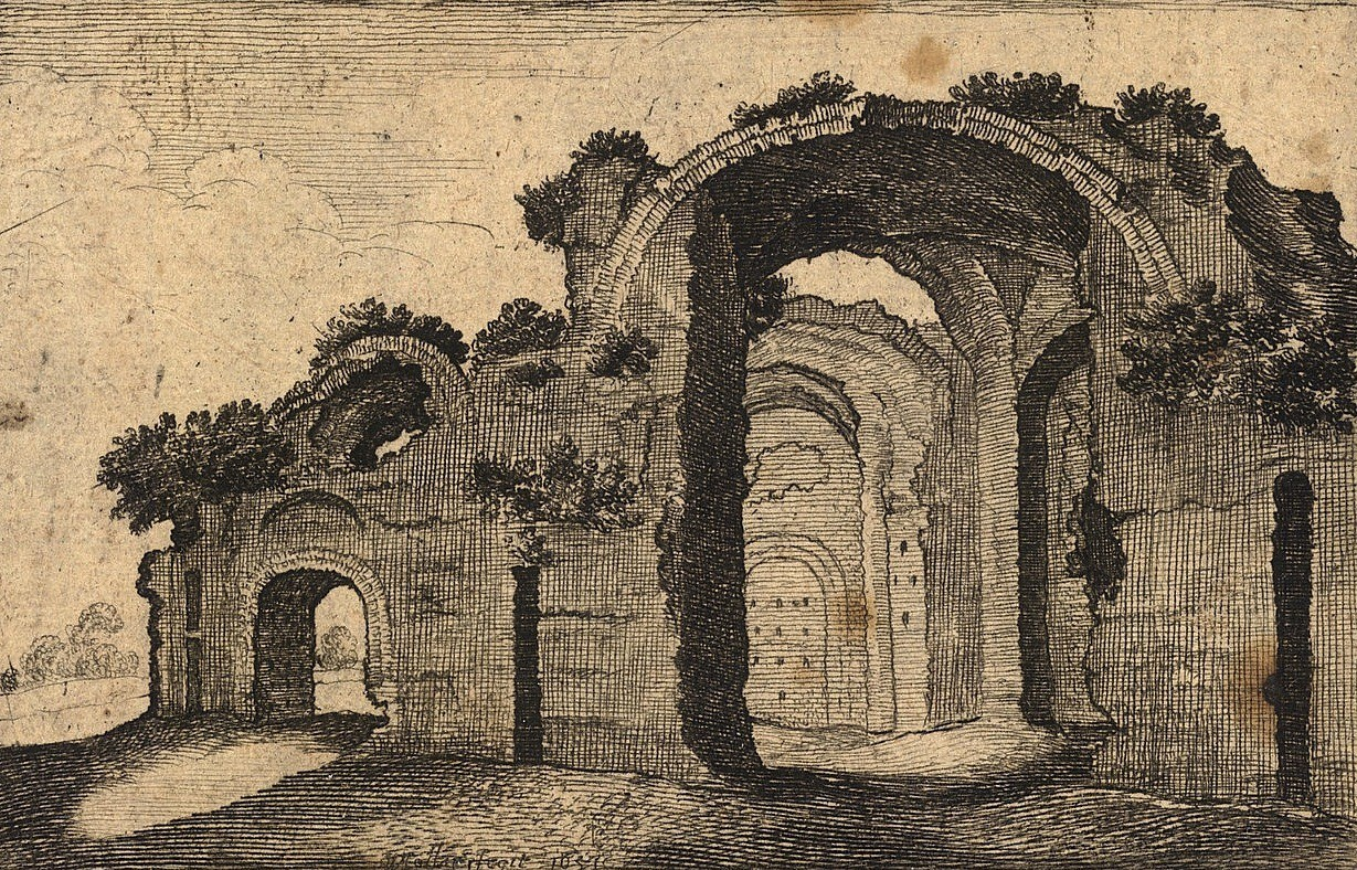 Wenceslaus Hollar, The Baths of Diocletian (Thermae Diocletiani Ruinae), Rome, 1651-2