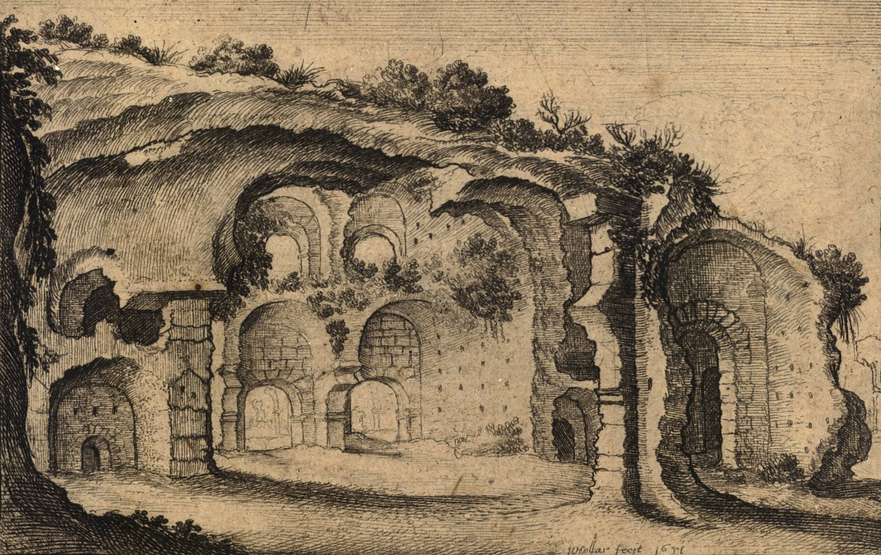 Wenceslaus Hollar, The Baths of Diocletian (Thermae Diocletiani Ruinae), Rome, 1651.-1