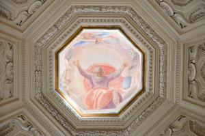 Detail of dome of Santa Maria della Pace, renaissance church near Piazza Navona.