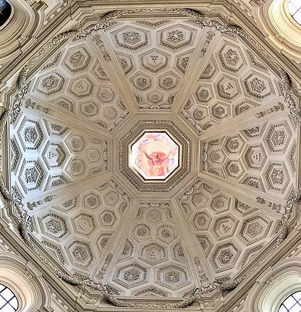 Dome of Santa Maria della Pace, Rome, Italy.