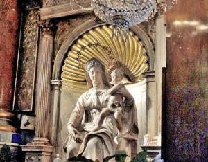 Madonna del Parto (Madonna of Childbirth), Basilica of Sant Agostino, Rome, Italy.