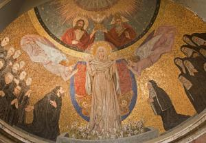 Mosaic of Virgin Mary from apse of Santa Prassede