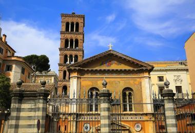The basilica of Santa Pudenziana in Rome, Italy