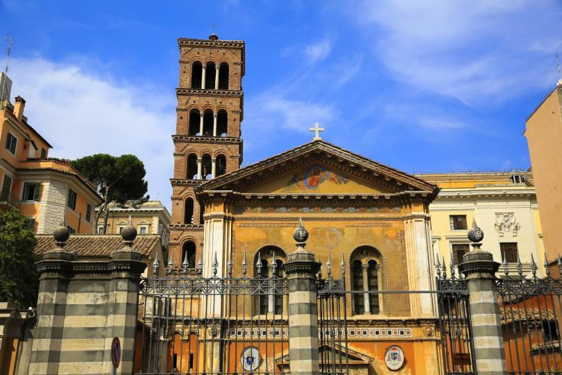 The basilica of Santa Pudenziana in Rome, Italy