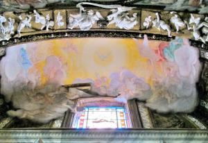 Vaulting fresco of Cornaro Chapel - Bernini.