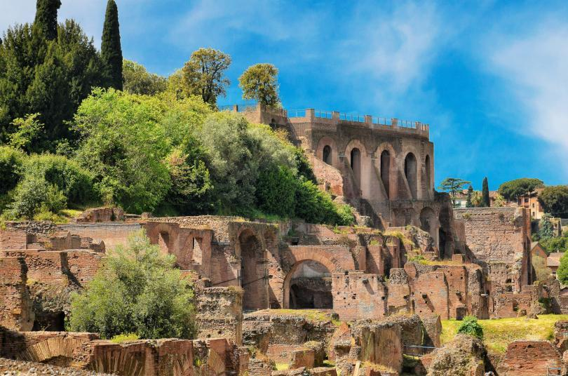 Colosseum Express Guided Tour - Remains of ruined Palatine Hills in Rome