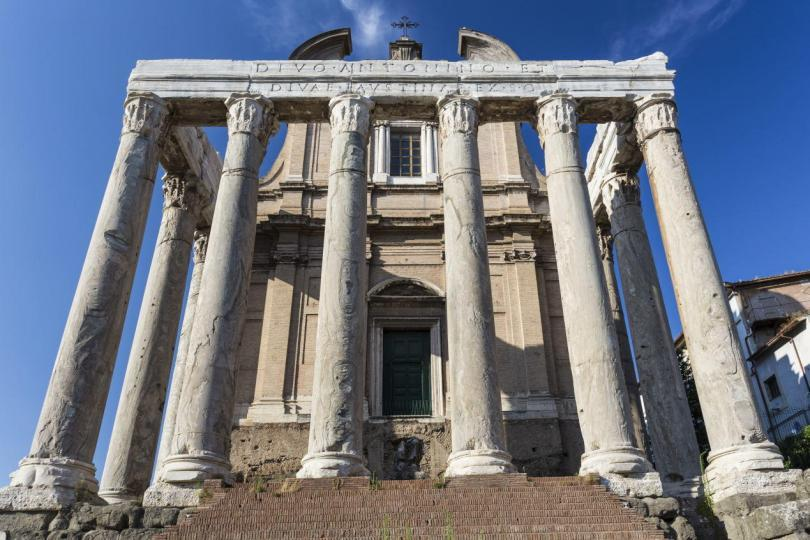 Colosseum and Ancient Rome Walking Tour - Temple of Antoninus and Faustina