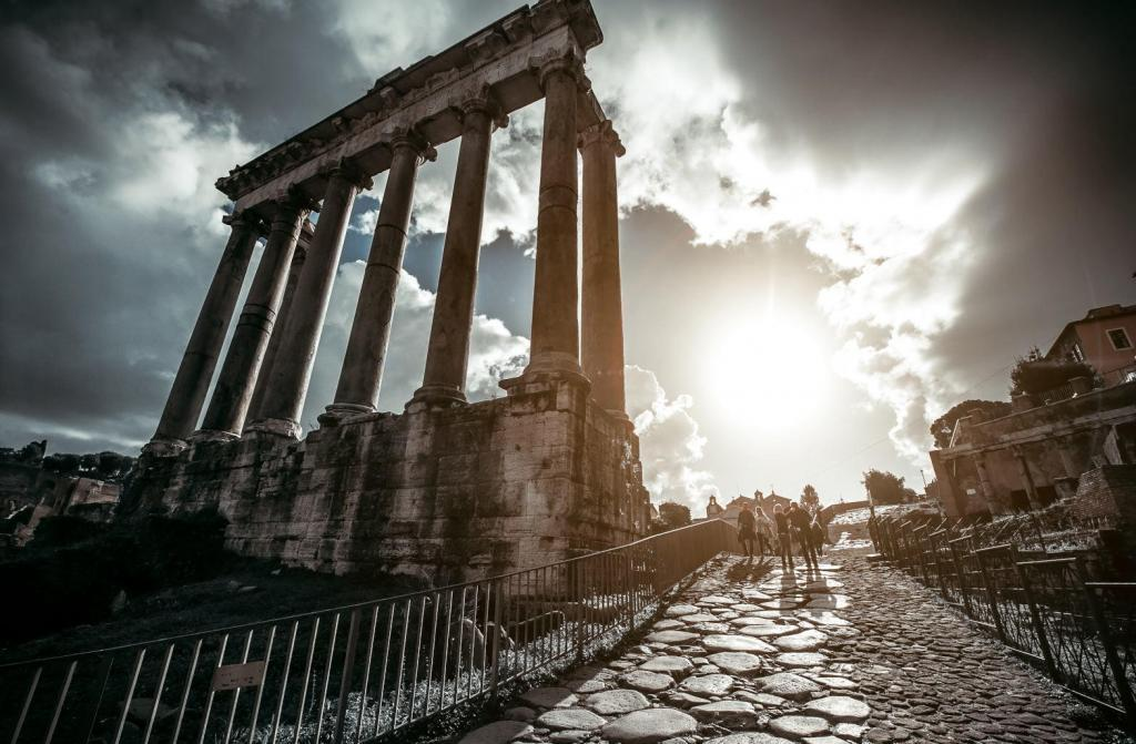 Colosseum and Ancient Rome Walking Tour - Temple of Saturn -Roman Forum in Rome, Italy