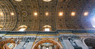 Early Entry Vatican Museums and Small-Group Tour with St. Peter's and Sistine Chapel - Interior of St. Peter's Basilica. St. Peter's Basilica is one of the main tourist attractions of Rome.