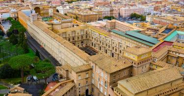 Omnia Card - Vatican & Rome City Pass +Transportation - Vatican museums - aerial view from St. Peter s Basilica in Rome