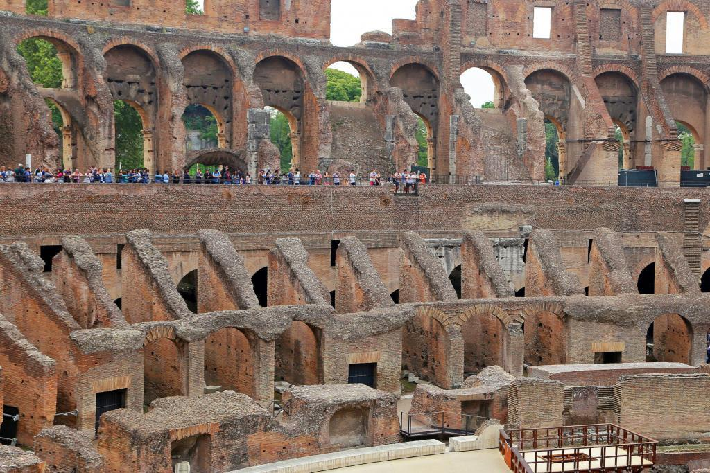 Small Group Colosseum and Roman Forum Guided Tour - Colosseum, Coliseum or Coloseo, Flavian Amphitheatre largest ever built symbol of ancient Roma city in Roman Empire.