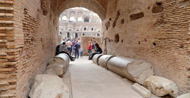 Small Group Colosseum and Roman Forum Guided Tour - Colosseum, Coliseum or Coloseo, Flavian Amphitheatre largest ever built symbol of ancient Roma city in Roman Empire. (3)