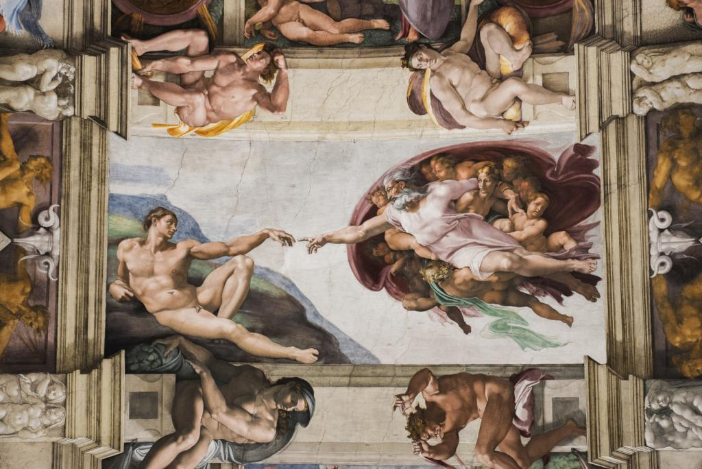 Vatican Museums and Sistine Chapel Fast -Track Entry - Detail of the Universal Judgement inside the Sistine Chapel in Vatican City.