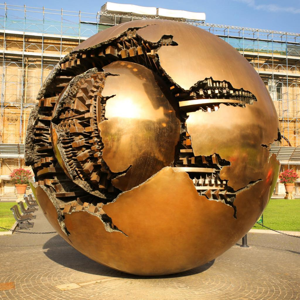 Vatican Museums and Sistine Chapel Fast -Track Entry - Sphere within sphere at Cortile della Pigna in Vatican