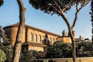 Exterior façade of the Basilica of Santa Sabina on the Aventine Roman. Rome