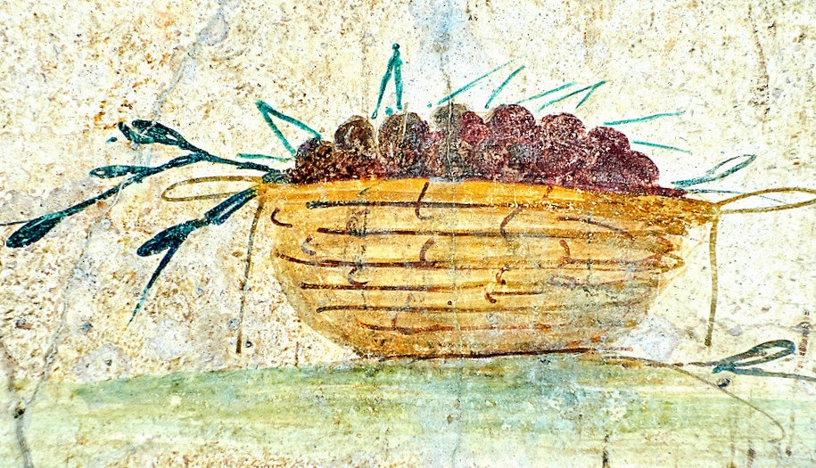 Fresco of a fruit, 5th. c. A.D, Rome, Italy, National Roman Museum