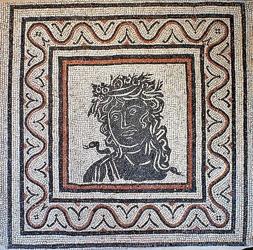 Geometric floor mosaic,3rd century AD. National Roman Museum, Rome, Italy