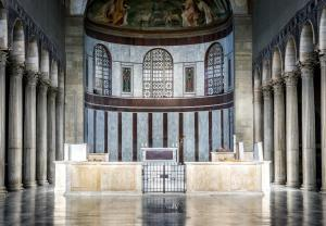 Interior of the Basilica of Saint Sabina in Rome, Italy (2)