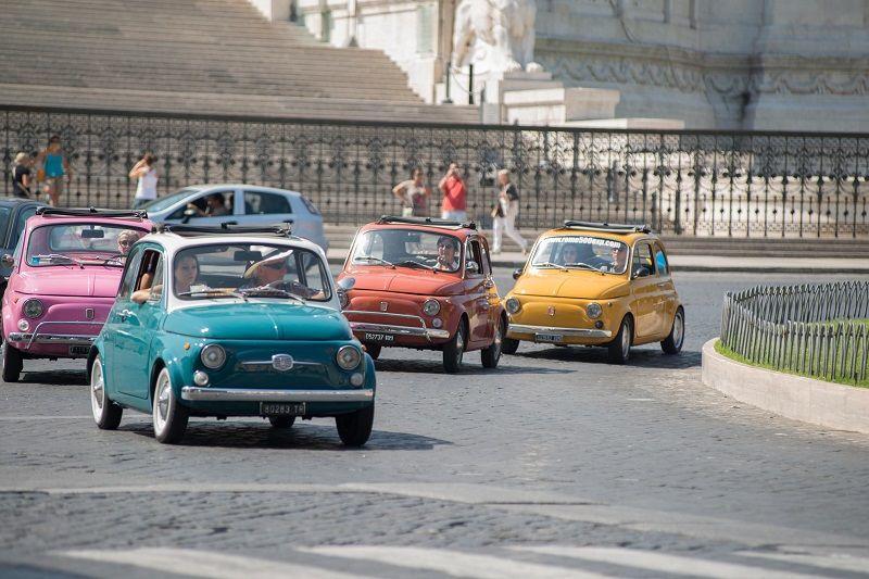 Rome Fiat 500 Driving Tour