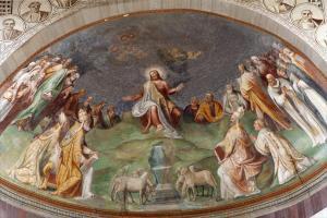 Rome - Jesus the Teacher fresco from church Santa Sabina