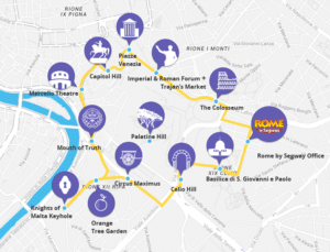 Rome Segway Tour by Night - Route Map