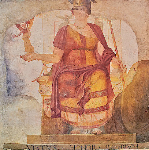 Venus,Roman Fresco, 4th c. A.D, National Roman Museum, Rome, Italy.