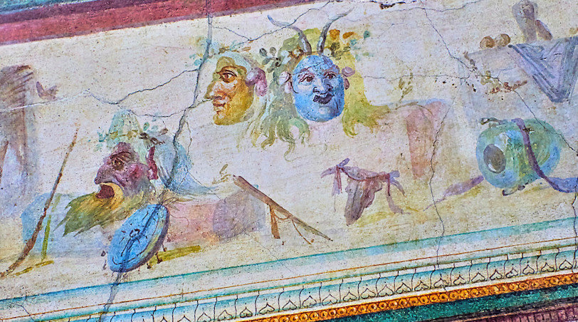 Wall decorations of the Villa Farnesia,National Roman Museum, Rome, Italy (11)