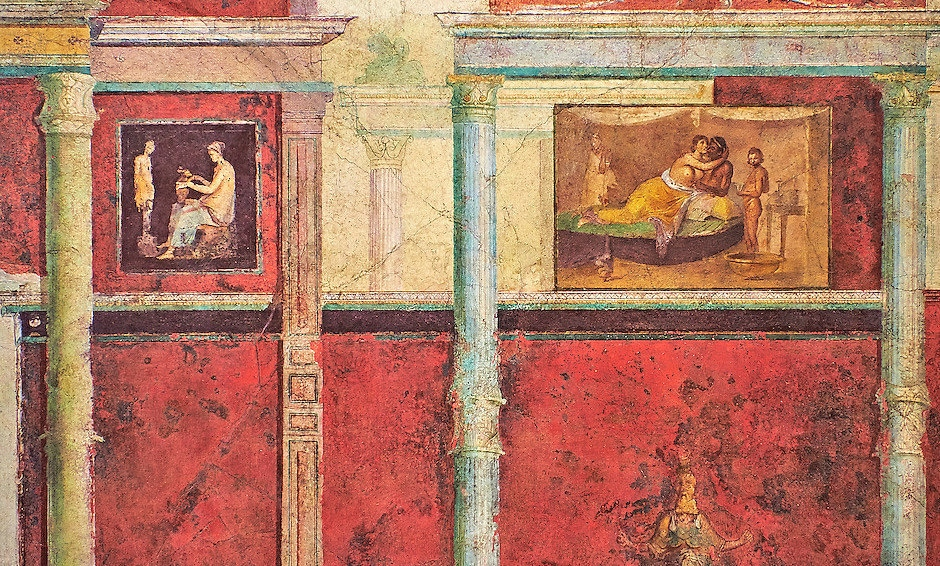 Wall decorations of the Villa Farnesia,National Roman Museum, Rome, Italy (8)